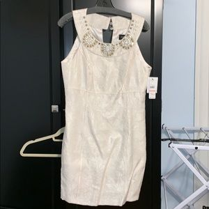 Cream detailed party dress